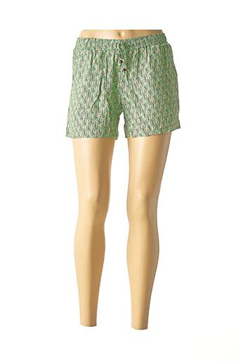 Short vert COLINE pour femme