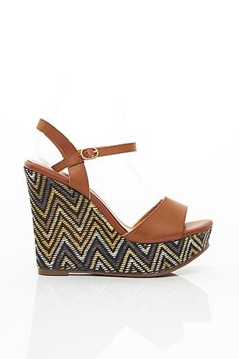Sandales/Nu pieds marron MOLLY BRACKEN pour femme