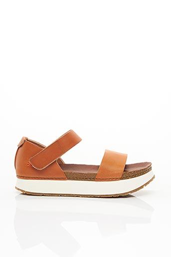 Sandales/Nu pieds orange ART pour femme