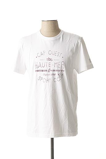 T-shirt manches courtes blanc TBS pour homme