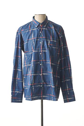 Chemise manches longues bleu EMYLE pour homme