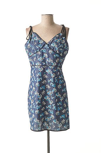 Robe mi-longue bleu LOVIE & CO pour femme