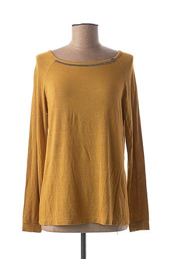 T-shirt manches longues jaune EGO pour femme