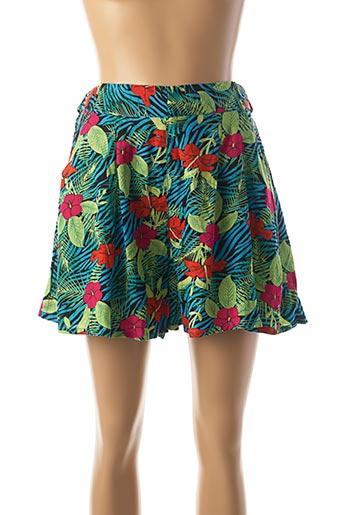 Jupe short vert BELLFIELD pour femme