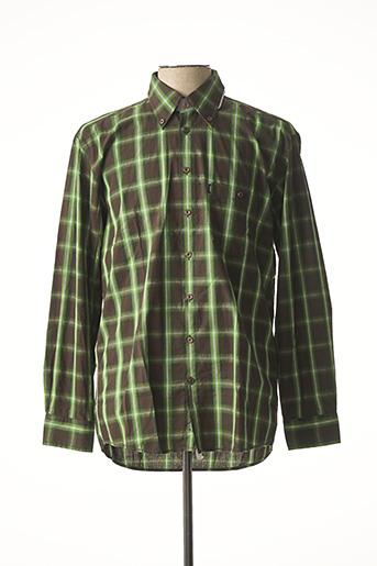Chemise manches longues vert DORNBUSCH pour homme