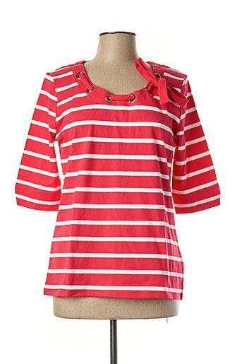 T-shirt manches longues rose MARBLE pour femme