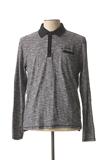 Pull col chemisier gris BIAGGIO pour homme