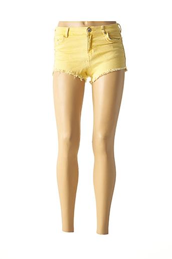 Short jaune BERSHKA pour femme