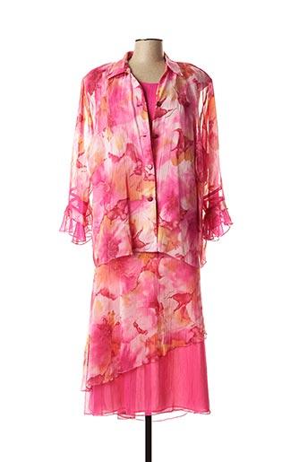 Top/jupe rose FRANCE RIVOIRE pour femme