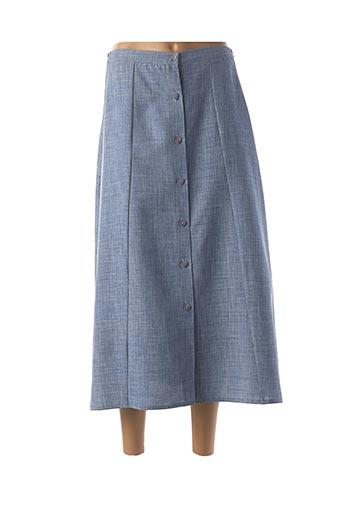 Jupe longue bleu GRIFFON pour femme