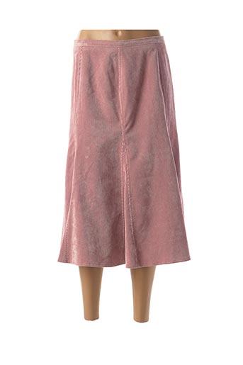 Jupe mi-longue rose FINNKARELIA pour femme