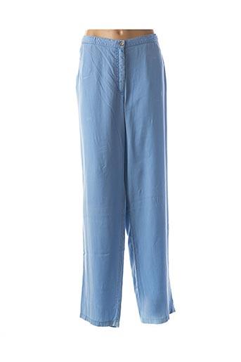 Pantalon casual bleu FINNKARELIA pour femme