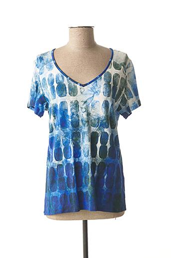 T-shirt manches courtes bleu AVENTURES DES TOILES pour femme