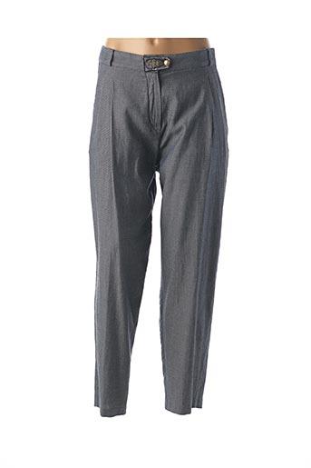 Pantalon 7/8 bleu AVENTURES DES TOILES pour femme