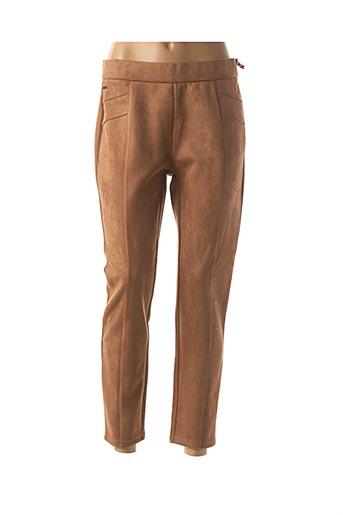 Pantalon 7/8 marron STREET ONE pour femme