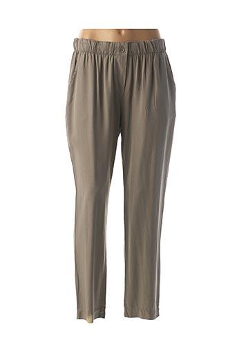 Pantalon 7/8 vert LA FEE MARABOUTEE pour femme