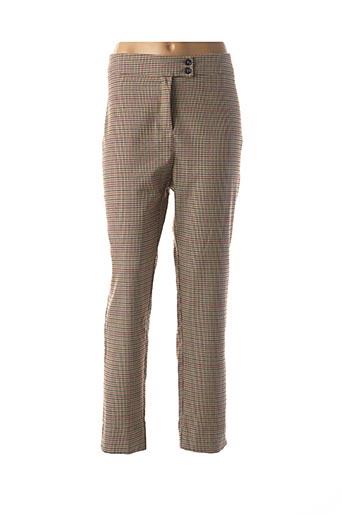 Pantalon chic beige LA FEE MARABOUTEE pour femme