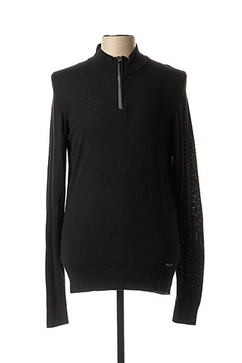 Pull col cheminée noir TEDDY SMITH pour homme