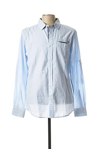 Chemise manches longues bleu KAPORAL pour homme