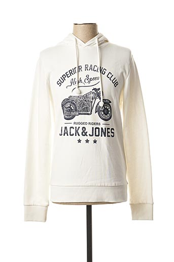 Sweat-shirt blanc JACK & JONES pour homme
