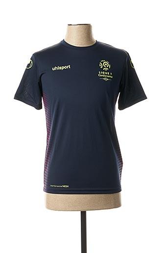 T-shirt manches courtes bleu UHLSPORT pour garçon