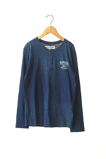 T-shirt manches longues bleu KAPORAL pour garçon