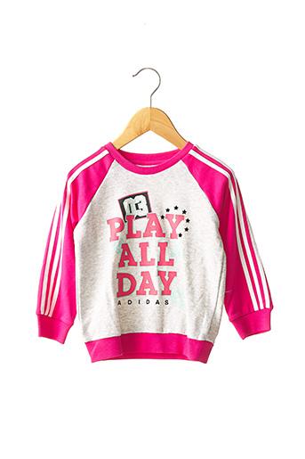 Sweat-shirt rose ADIDAS pour fille