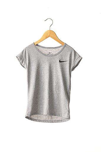 T-shirt manches courtes gris NIKE pour fille