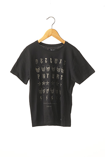 T-shirt manches courtes noir DEELUXE pour garçon