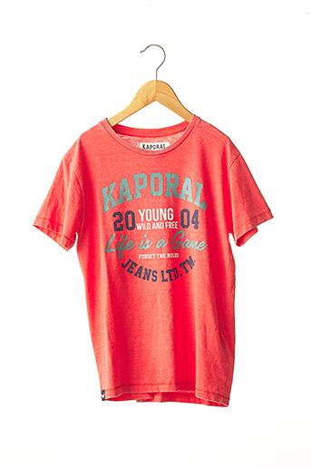 T-shirt manches courtes rose KAPORAL pour garçon