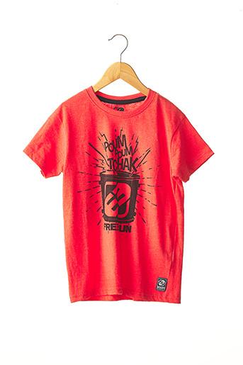 T-shirt manches courtes rouge FREEGUN pour garçon