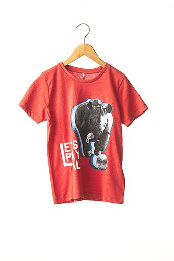 T-shirt manches courtes rouge NAME IT pour garçon