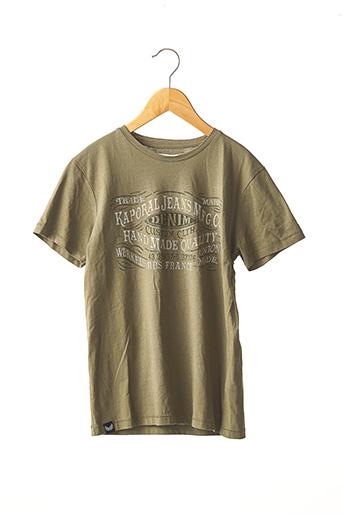 T-shirt manches courtes vert KAPORAL pour garçon
