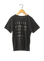 T-shirt manches courtes noir DEELUXE pour garçon seconde vue