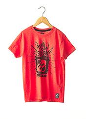 T-shirt manches courtes rouge FREEGUN pour garçon seconde vue