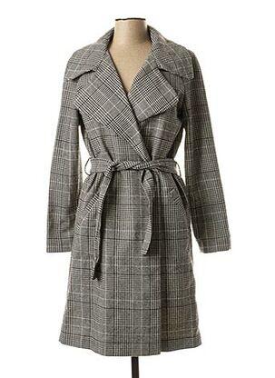 Manteau long gris I.CODE (By IKKS) pour femme