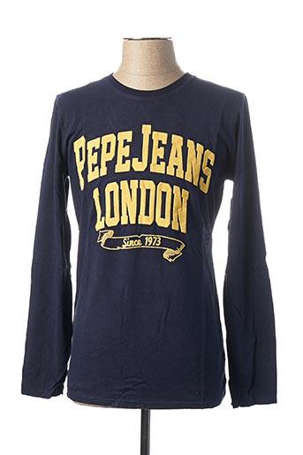 T-shirt manches longues bleu PEPE JEANS pour homme