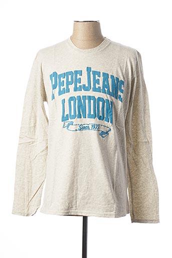 T-shirt manches longues gris PEPE JEANS pour homme