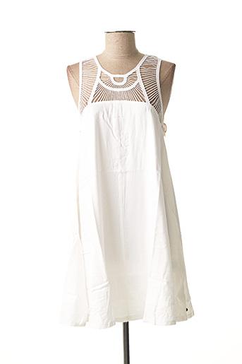 Robe mi-longue blanc ELEMENT EDEN pour femme