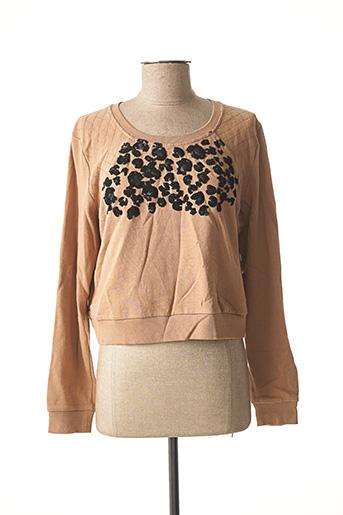 Sweat-shirt beige MORGAN pour femme