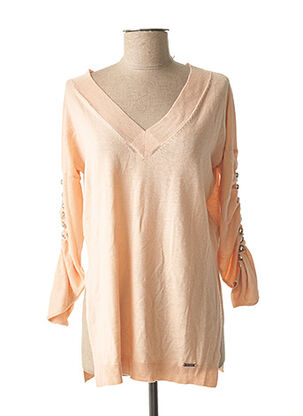Pull col V beige GUESS pour femme