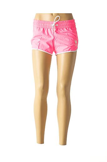 Bas de maillot de bain rose FRANK FERRY pour femme