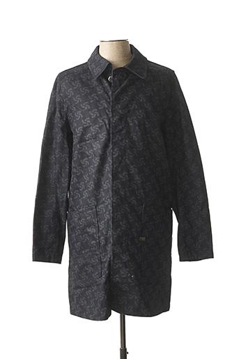 Manteau long bleu G STAR pour homme
