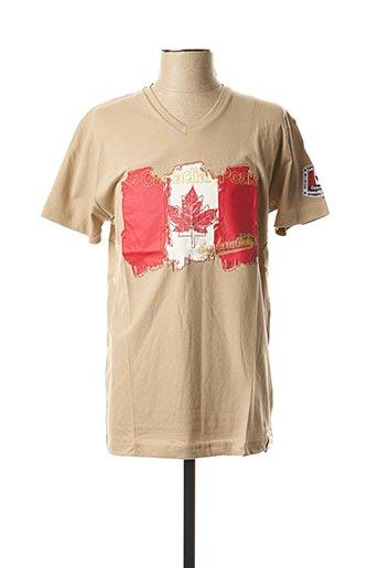 T-shirt manches courtes beige CANADIAN PEAK pour homme