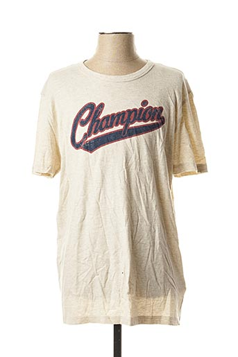 T-shirt manches courtes beige CHAMPION pour homme