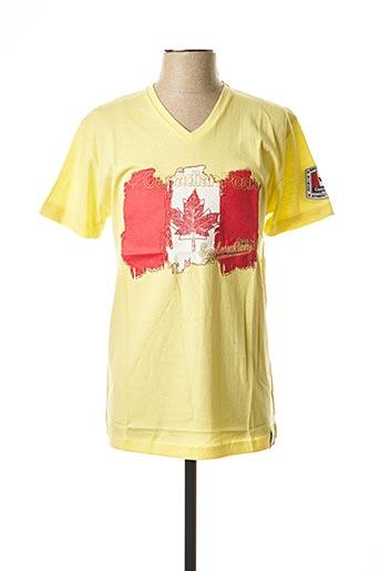 T-shirt manches courtes jaune CANADIAN PEAK pour homme