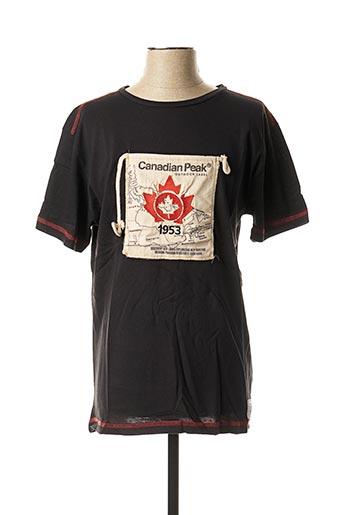 T-shirt manches courtes noir CANADIAN PEAK pour homme