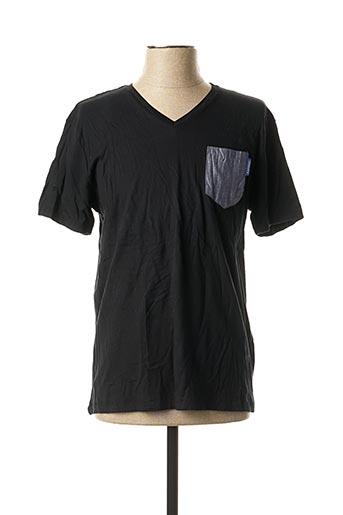 T-shirt manches courtes noir KAPORAL pour homme