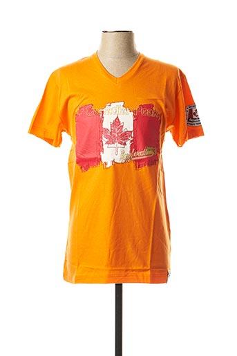 T-shirt manches courtes orange CANADIAN PEAK pour homme