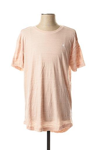 T-shirt manches courtes rose G STAR pour homme